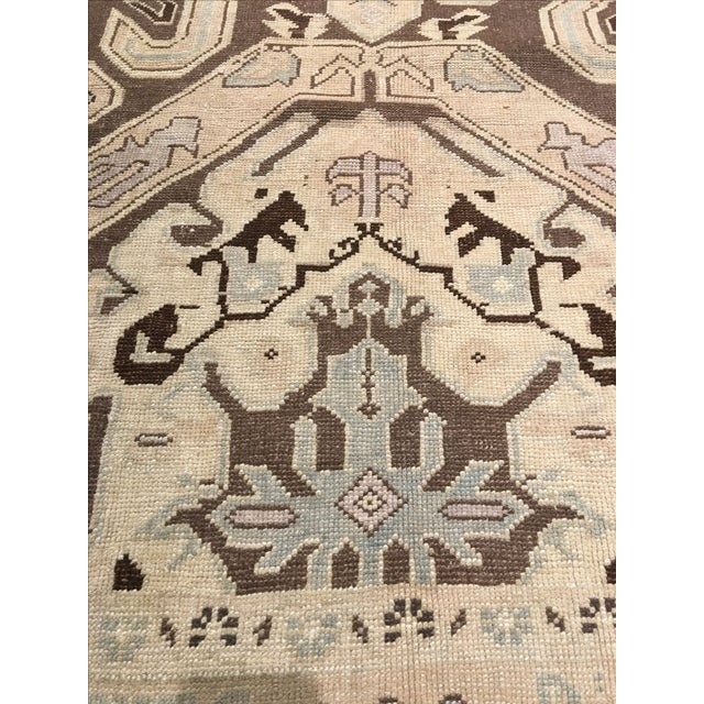 "Vintage Turkish Oushak Rug - 6' X 9'5"" - Image 7 of 8"