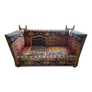 George Smith Tiplady Knole Sofa in Kilim Fabric For Sale