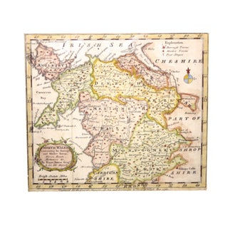 1762 Antique North Wales Framed Map Preview