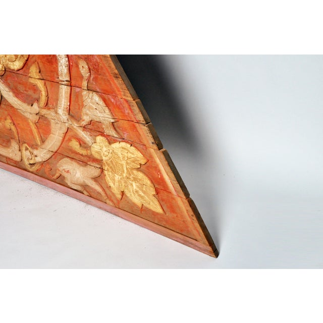 Teak Wood Architectural Gable Fragment For Sale - Image 9 of 9
