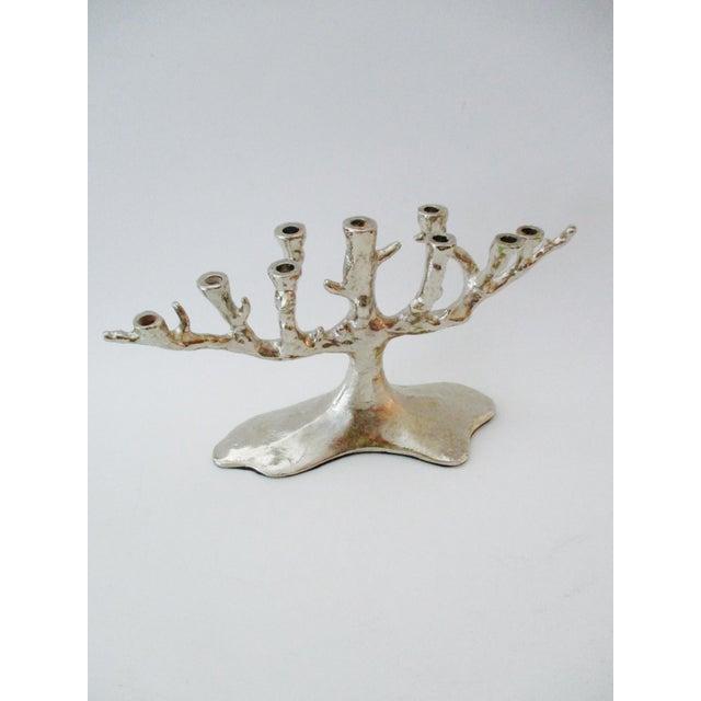 Silver Tree Menorah Candelabra - Image 9 of 10