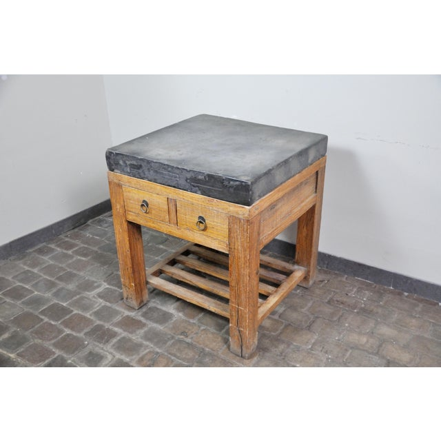 17th Century Chinese Stone Top Incense Table From the Qing Dynasty For Sale - Image 4 of 13