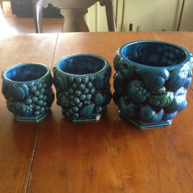 Inarco Japanese Pottery Planters - Set of 3 For Sale - Image 9 of 11