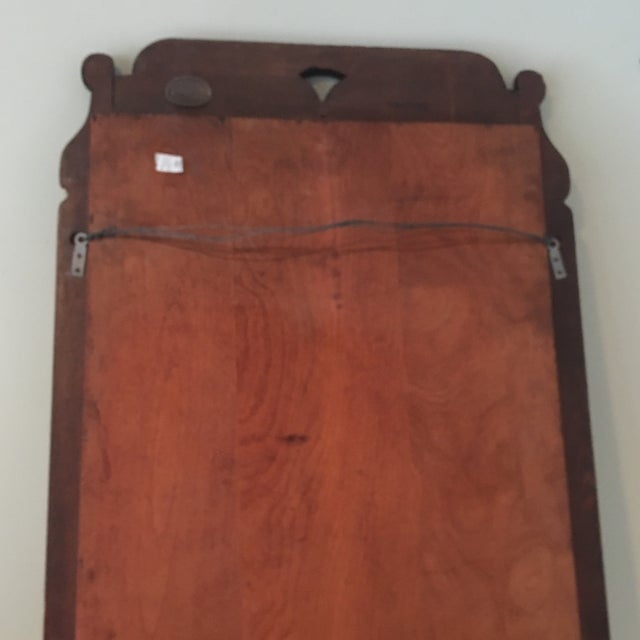 Wood Antique Cushman Colonial Wood Mirror For Sale - Image 7 of 8