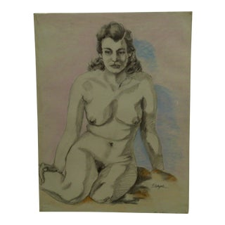 "Original Drawing Sketch ""Samantha"" by Tom Sturges Jr., 1950"
