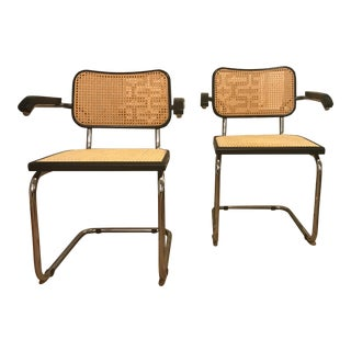 Italian Marcel Breuer Style Chairs - Set of 2