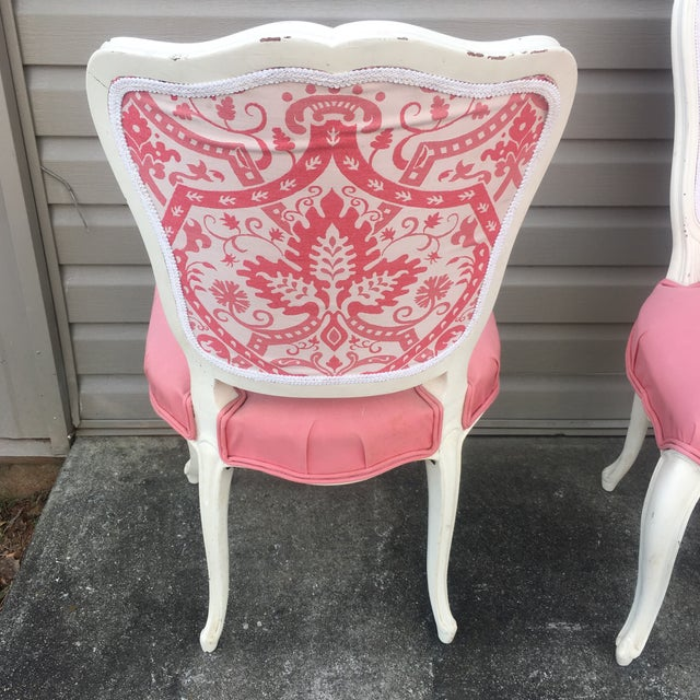 Vintage French Style Side Chairs - Set of 4 - Image 9 of 11