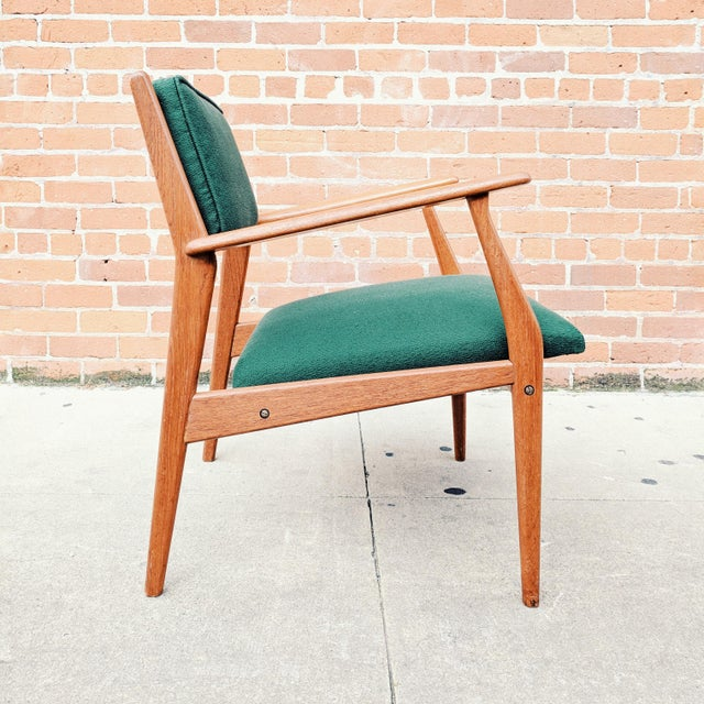 Danish Modern Vintage Mid Century Danish Modern Teak Lounge Chair For Sale - Image 3 of 11