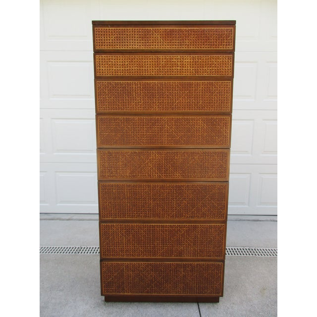 Cane Front Eight Drawer Dresser by Directional For Sale - Image 12 of 12