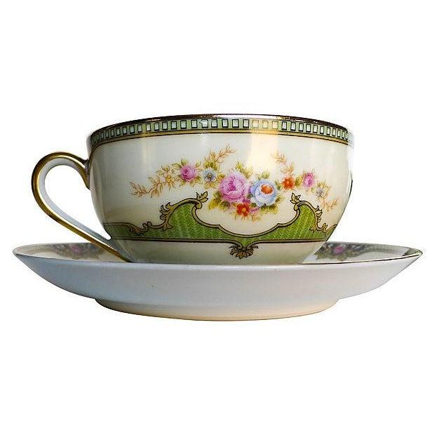 Vintage Floral Tea Cups & Saucers - Set of 6 - Image 3 of 6