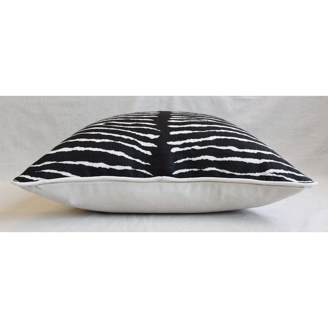 """Bone Custom Tailored Brunschwig & Fils Zebra Feather/Down Pillows 23"""" - Pair For Sale - Image 7 of 12"""