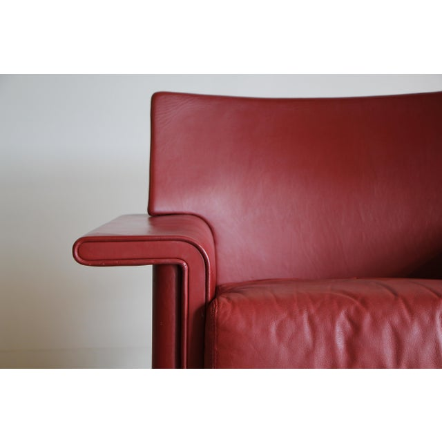 Mid-Century Modern Afra & Tobia Scarpa Leather Lounge Chair For Sale - Image 3 of 13
