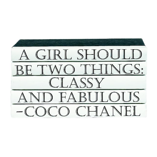 Coco Chanel Quote Book Stack - 5 - Image 1 of 2