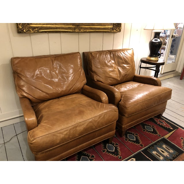 Nancy Corzine Club Chairs -A Pair For Sale In Philadelphia - Image 6 of 11