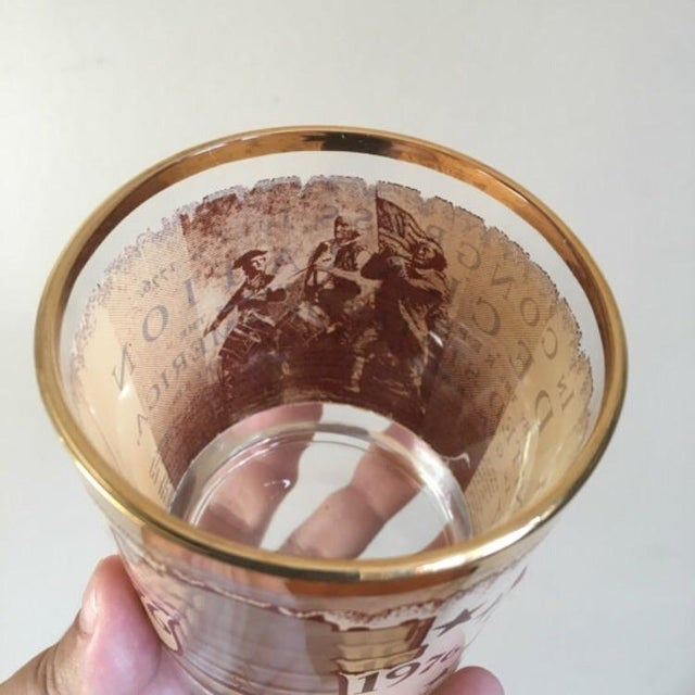 1976 Vintage Bicentennial Glasses - Set of 4 For Sale In New York - Image 6 of 6