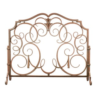 Raymond Subes (1891-1970) - Wrought Iron Firewall For Sale