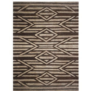 Hand-Knotted Navajo Inspired Rug - 11′6″ × 15′7″ For Sale