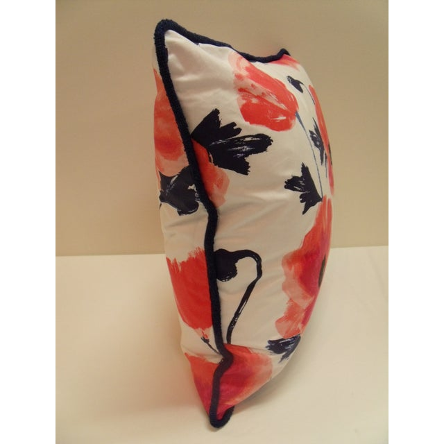 Modern Kravet Kate Spade Floral Amapola Decorative Pillow in Maraschino For Sale - Image 3 of 4