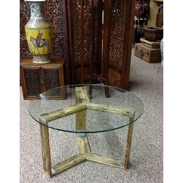 Custom Pallet Wood Side Table - Image 6 of 9