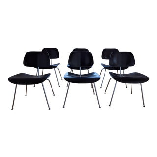 Original Black Eames Dining Chairs by Vitra - Set of 6 For Sale