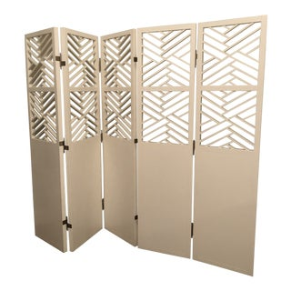 Contemporary White Screen Room Divider For Sale