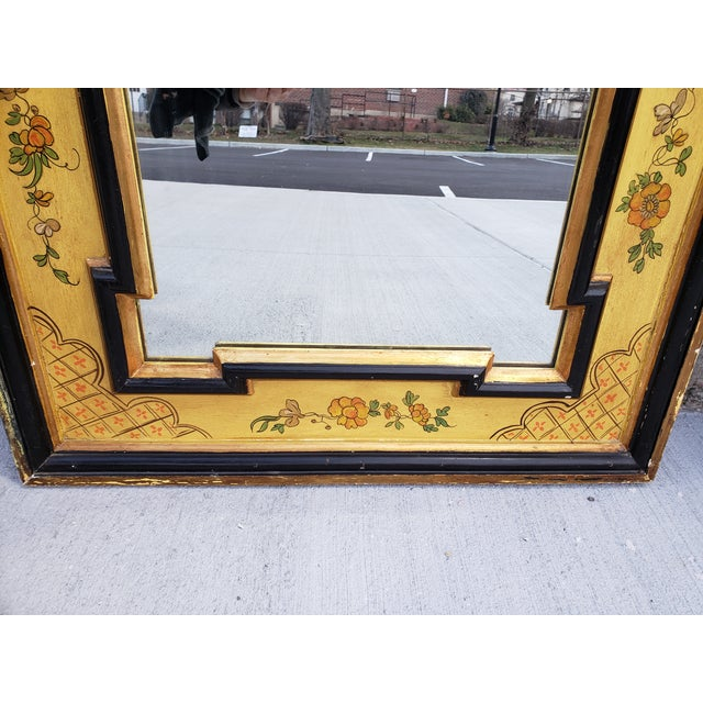 Vintage Italian Hand Painted Mirror For Sale - Image 4 of 13
