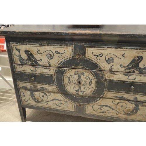 Antique Chest With New Paint From Spain For Sale - Image 10 of 13