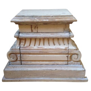 Antique Column Capital Pedestal For Sale