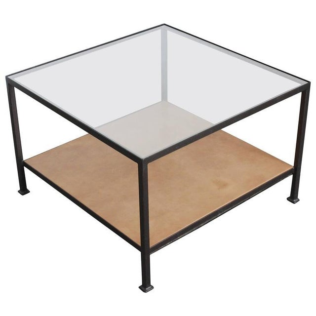 Custom-Made Marcelo Coffee Table with Clear Glass Top For Sale - Image 9 of 9