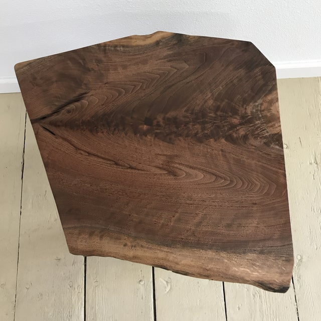 Solid California Walnut Stool For Sale - Image 10 of 11