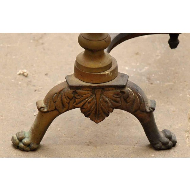 Traditional Cast Bronze Andirons - A Pair For Sale - Image 3 of 8