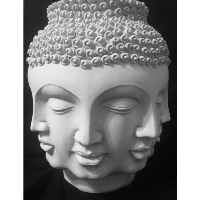2000 - 2009 Fornasetti Dora Maar Style Multi Face Asian Buddha Planter / Vase For Sale - Image 5 of 12