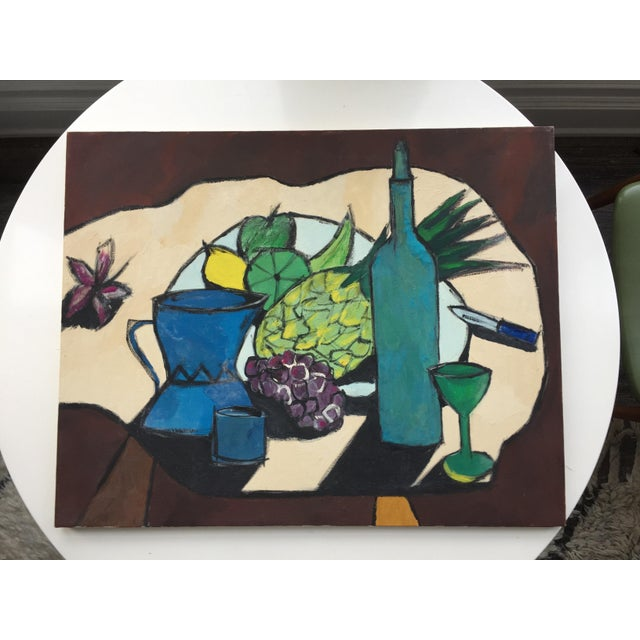 Mid-Century Modern Still Life Painting For Sale - Image 4 of 10