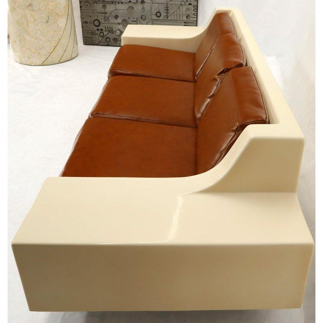 Mid-Century Modern 3-Seat Fiberglass Sofa With End Tables For Sale - Image 9 of 13