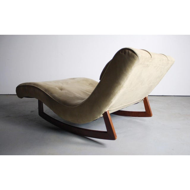 Wave Chaise Lounge Rocking Chair For Sale - Image 5 of 5