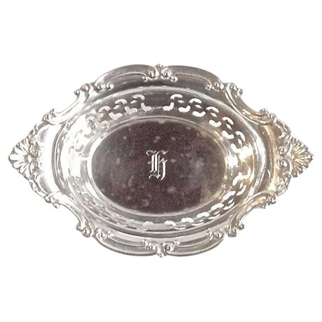 Vintage Sterling Silver Pierced Nut Dish - Image 1 of 6