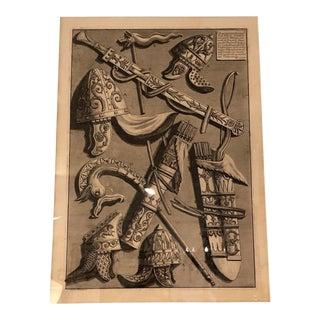 Framed Antique 18c Giovanni Battista Piranesi Etching Print - Spiral Column