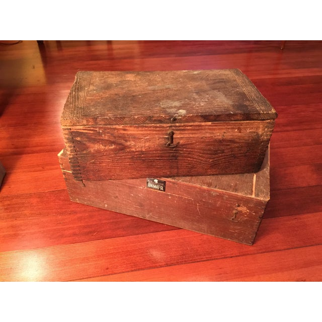 Antique Industrial Pipe Threader & Two Wood Boxes - Image 6 of 7