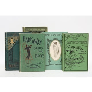 Mid Century Teal and Forest Green - Set of 20 Decorative Books Preview