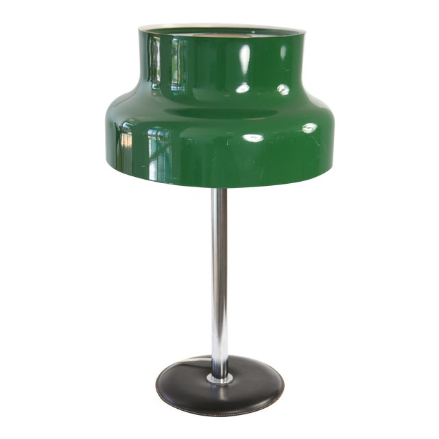 1960s Mid-Century Modern Swedish Green 'Bumling' Table Lamp For Sale