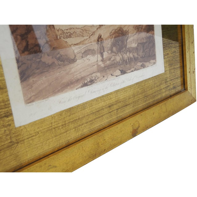 Sepia Mezzotint Prints by Claude Lorraine - a Pair For Sale - Image 6 of 7
