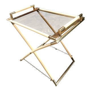 Vintage Brass and Glass Cocktail Table