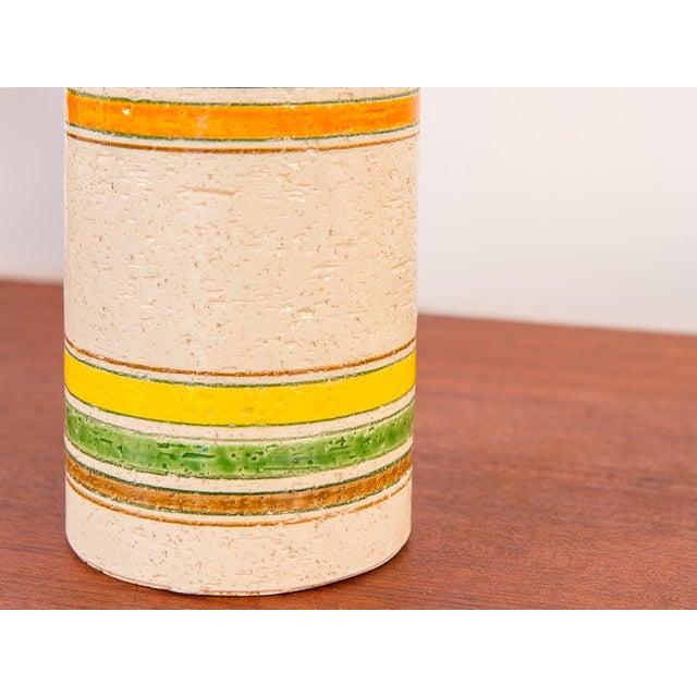 Italian Rosenthal Netter Striped Italian Vase for Bitossi For Sale - Image 3 of 7