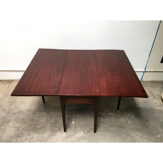 American Classical American Antique Gate Leg Table Drop-Leaf Console For Sale - Image 3 of 11