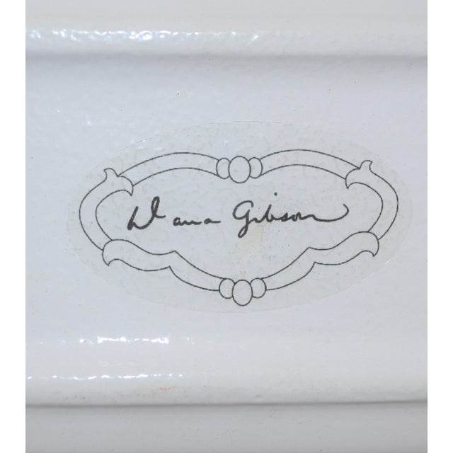 Dana Gibson Melon and White Striped Trinket Tray For Sale - Image 12 of 13