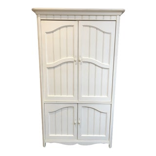 Antiqued White Armoire From Ragassi Furniture For Sale