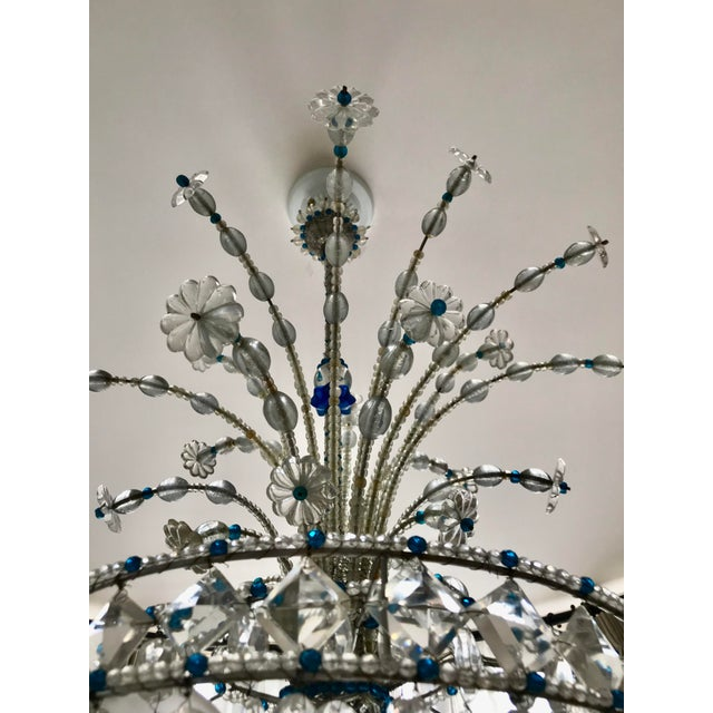 1940s Mid Century French Crystal Chandelier For Sale - Image 6 of 13