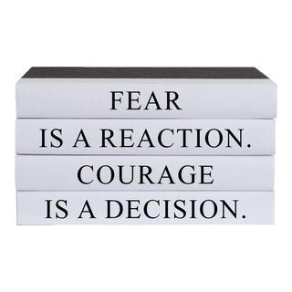 Courage Quote Book Stack- Set of 4 For Sale