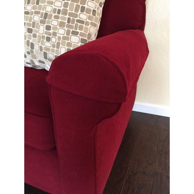 Contemporary Contemporary Bassett Chenille Sofa For Sale - Image 3 of 9