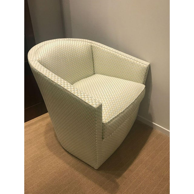 Judy Swivel Chair made with polyester fiber by Pearson. Original retail price: $3,354